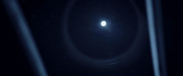 """She sees a huge star surrounded by a circle. The """"eye in the sky"""" will never stop watching her from now on."""