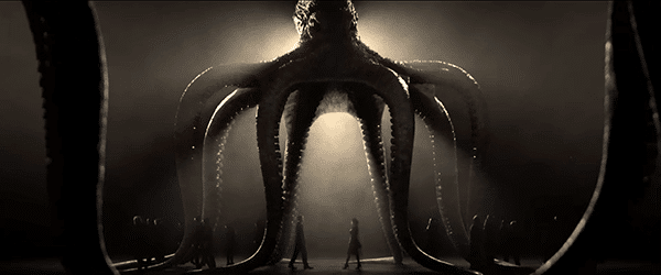 "While we hear a dramatic song by Sam Smith in the background, we see James Bond walking under the ""protection"" of the Spectre octopus, which represents the occult elite. I thought Bond was against them?"