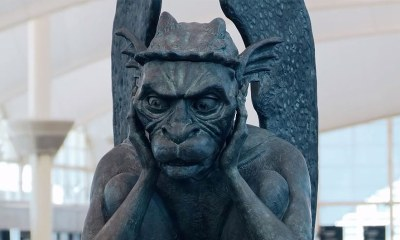 "The Denver Airport Installs a Talking Gargoyle That Says ""Welcome to the Illuminati Headquarters"""