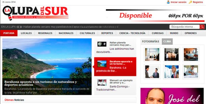 Nueva portada de lalupadelsur, del periodista Benny Rodríguez.