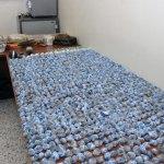 Porciones de cocaínas incautadas por la DNCD en un operativo en las últimas horas.