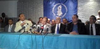 Rueda de prensa de los Vinchos en la que anunciaron que no se van del Gobierno como habían advertido.