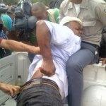 Este hombre resultó herido de bala en la espalda en la Casa Nacional del PRD.