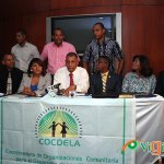 Rueda de prensa de las organizaciones del sector Los Alcarrizos