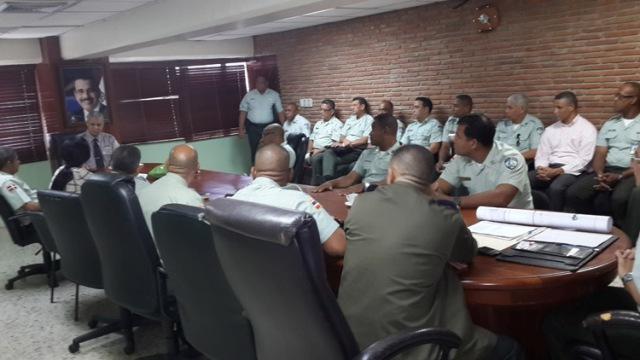 Reunión del Director de AMET, general Pablo Arturo Pujols con el personal bajo su mando