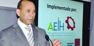 Víctor Castro, presidente de la Asociación de Empresas Industriales de Herrera y Provincia Santo Domingo (AEIH)