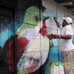 El Colectivo de Pintores Sánchez Ramírez está cambiando el rostro de muchas viviendas de Polo (Fotos: Genris García)