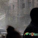 Lluvias repentinas se han estado registrando en el Gran Santo Domingo durante la tarde. (Foto: Genris García)
