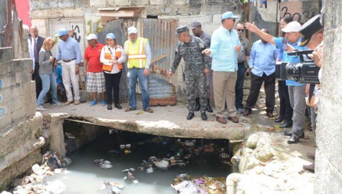 fase saneamiento cañada de Guajimía