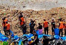 desechos sólidos y escombros del Malecon de Santo Domingo