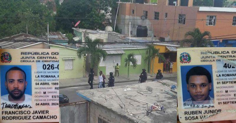 Dicen hombres abatidos en La Romana son de la banda de Cabrera Ruiz