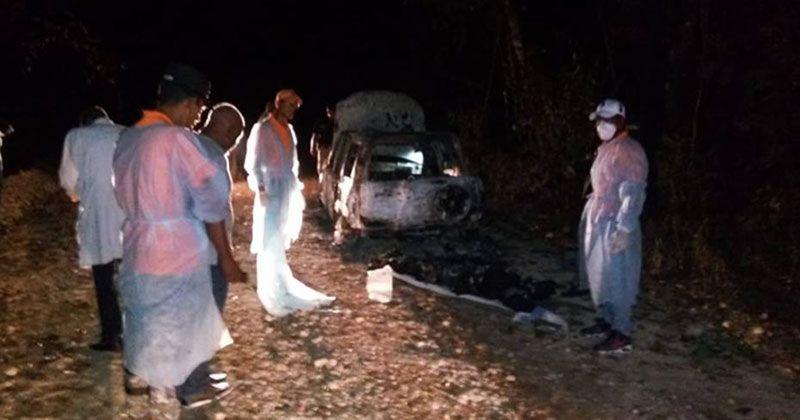 Queman dos personas dentro de jeepeta y otra la acribillan a tiros en La Romana