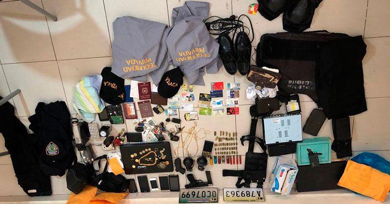 Policía SDE ocupa pistola, drogas y apresa tres en urbanización Italia