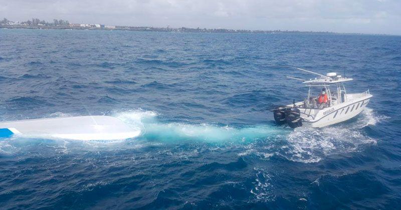 """Seguridad del Estado investigan origen embarcación """"virada"""" en el mar Caribe"""