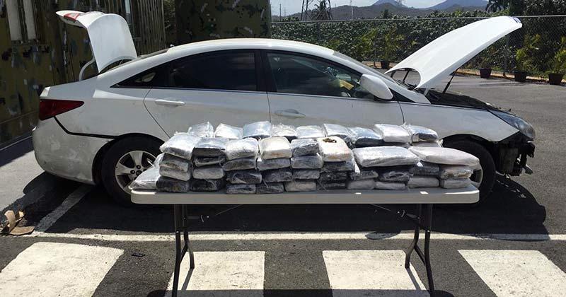 Decomisan 72 pacas de marihuana en puesto chequeo de Los Pilones