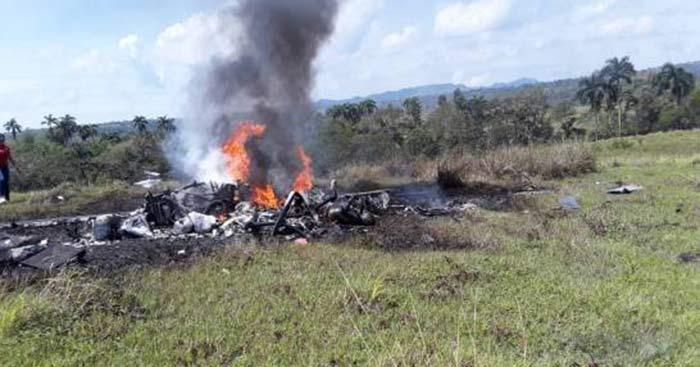 Dos muertos y un herido al caer helicóptero en Puerto Plata