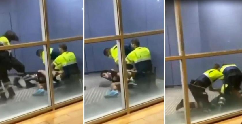 Ataque caníbal a un vigilante de seguridad