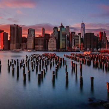 New York City Skyline Sunset
