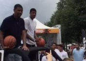 Jalen Rose and Paul George shooting