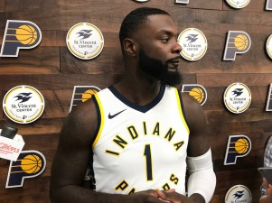 Lance Stephenson in new uniform