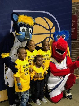 2017-10-15 Pacers FanJam photo with Boomer and Freddy