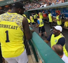 Pacers, Caroline Symmes Celebrity Softball Challenge, Victory Field, Lance Stephenson, Nate McMillan