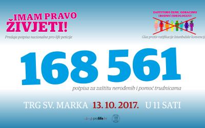 Predaja potpisa nacionalne pro-life peticije Hrvatskom saboru i glas protiv Istanbulske konvencije
