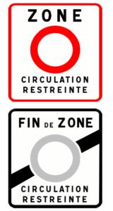 Panneau interdisant la circulation aux véhicules selon leur vignette crit air