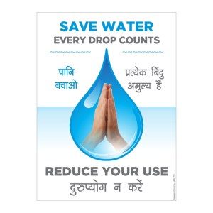 SAVE WATER Sticker Poster Sign
