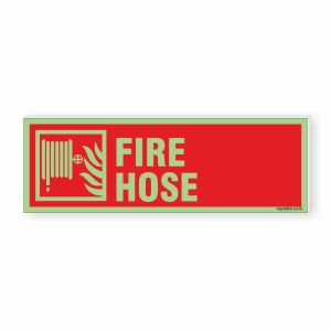 Glow in dark Fire Safety Sign