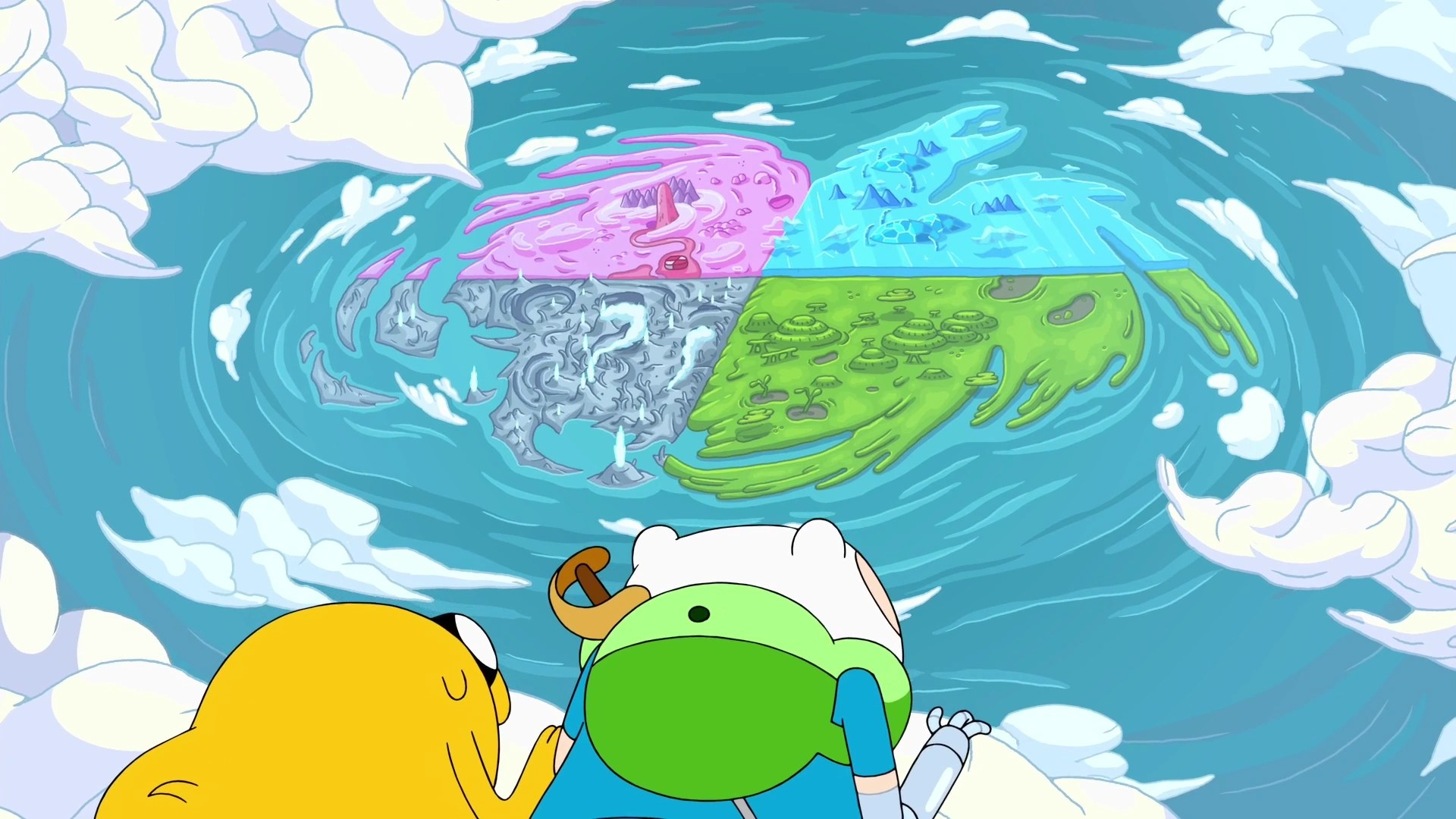 Adventure Time Land Of Ooo Map Haunted - Year of Clean Water