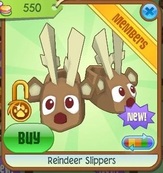 Reindeer Slippers Animal Jam Item Worth Wiki Fandom
