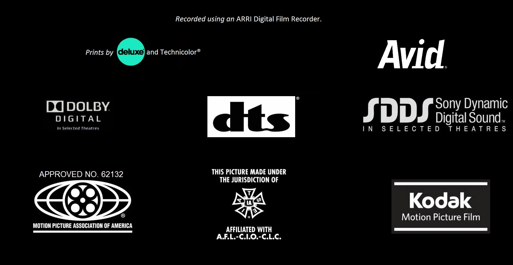 Theatres Digital Surround Dolby Logos Selected Ex