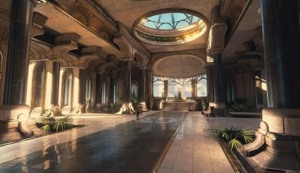 throne room temple fantasy royal concept utu rooms futuristic castle thiago wip klafke throneroom minos palace sci fi dune game