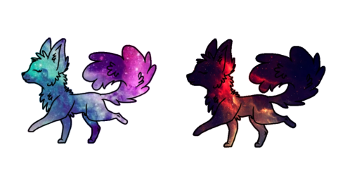 galaxy wolf adopts animal open jam pixels clans wikia