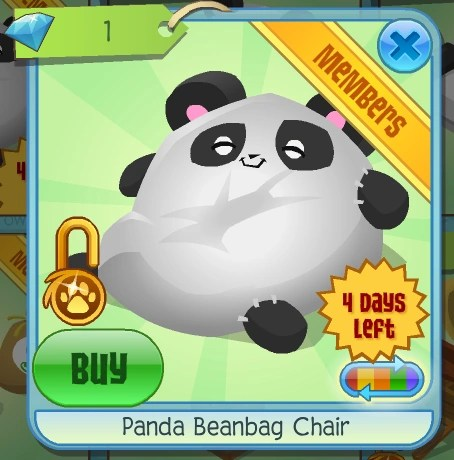 panda bean bag chair wicker moon chairs for adults beanbag animal jam wiki fandom powered by wikia basic information