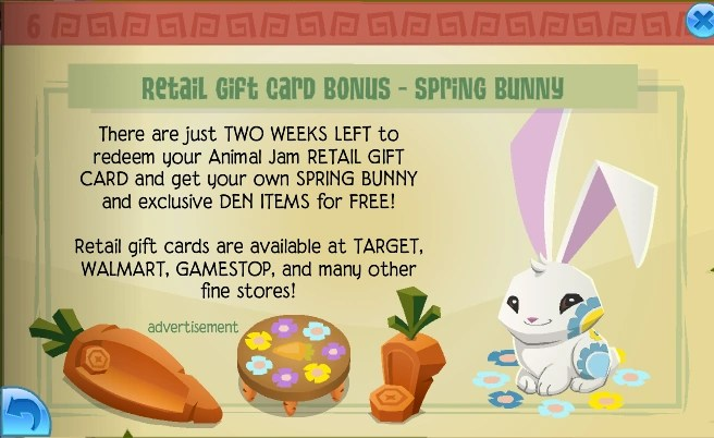 spring bunny animal jam