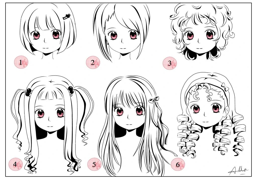 anime hair design