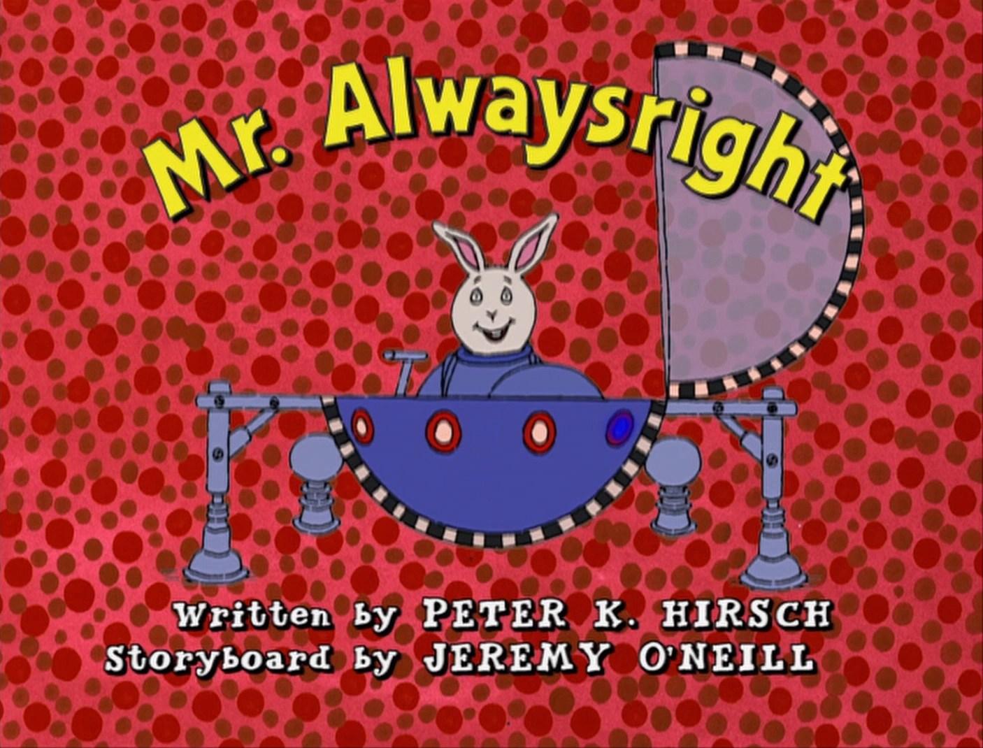 mr alwaysright arthur wiki