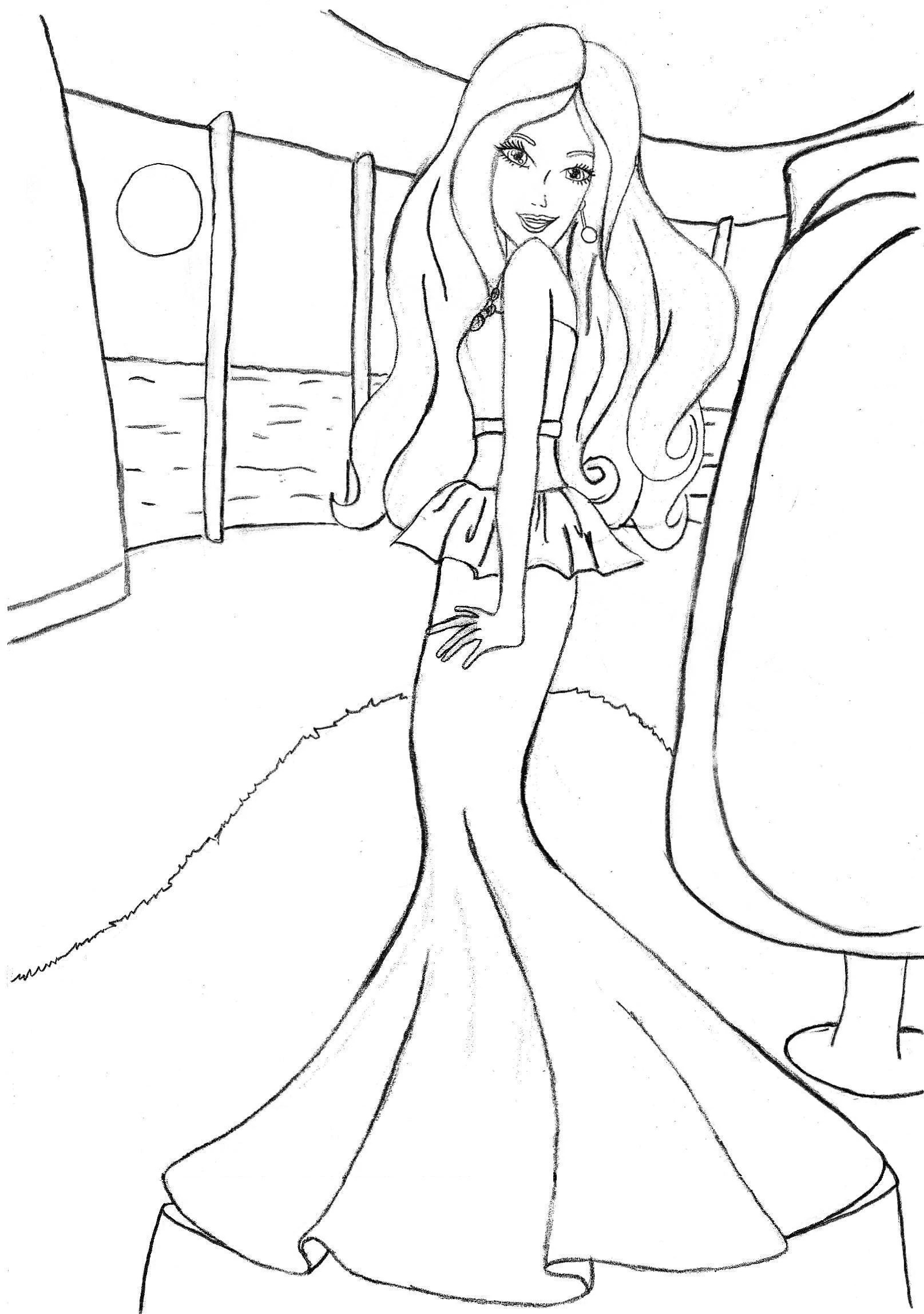 Image Coloring Pages Online Free Printable Barbie Coloring Pages