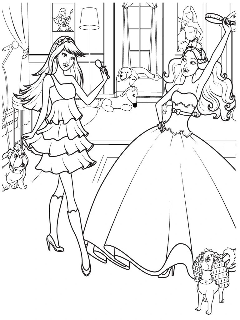 Image Free Colouring Pages Free Printable Barbie Coloring Pages