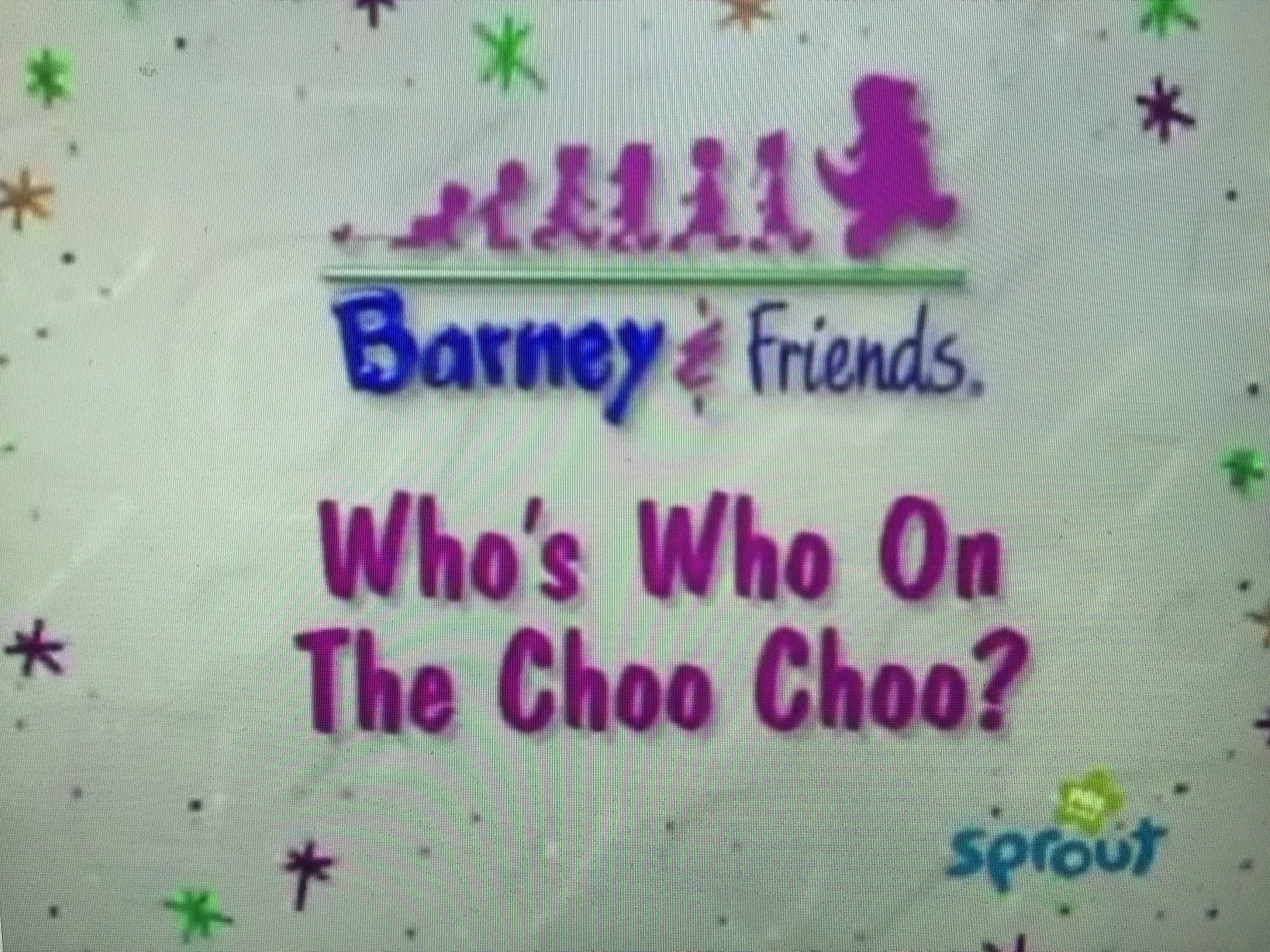 Barney Who Who On The Choo Choo - Year of Clean Water