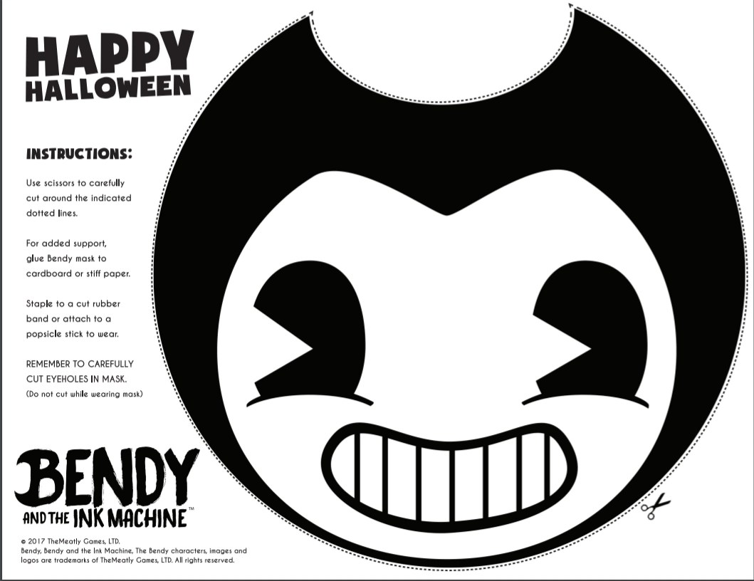Pumpkin Cut Out And Ink Machine Bendy
