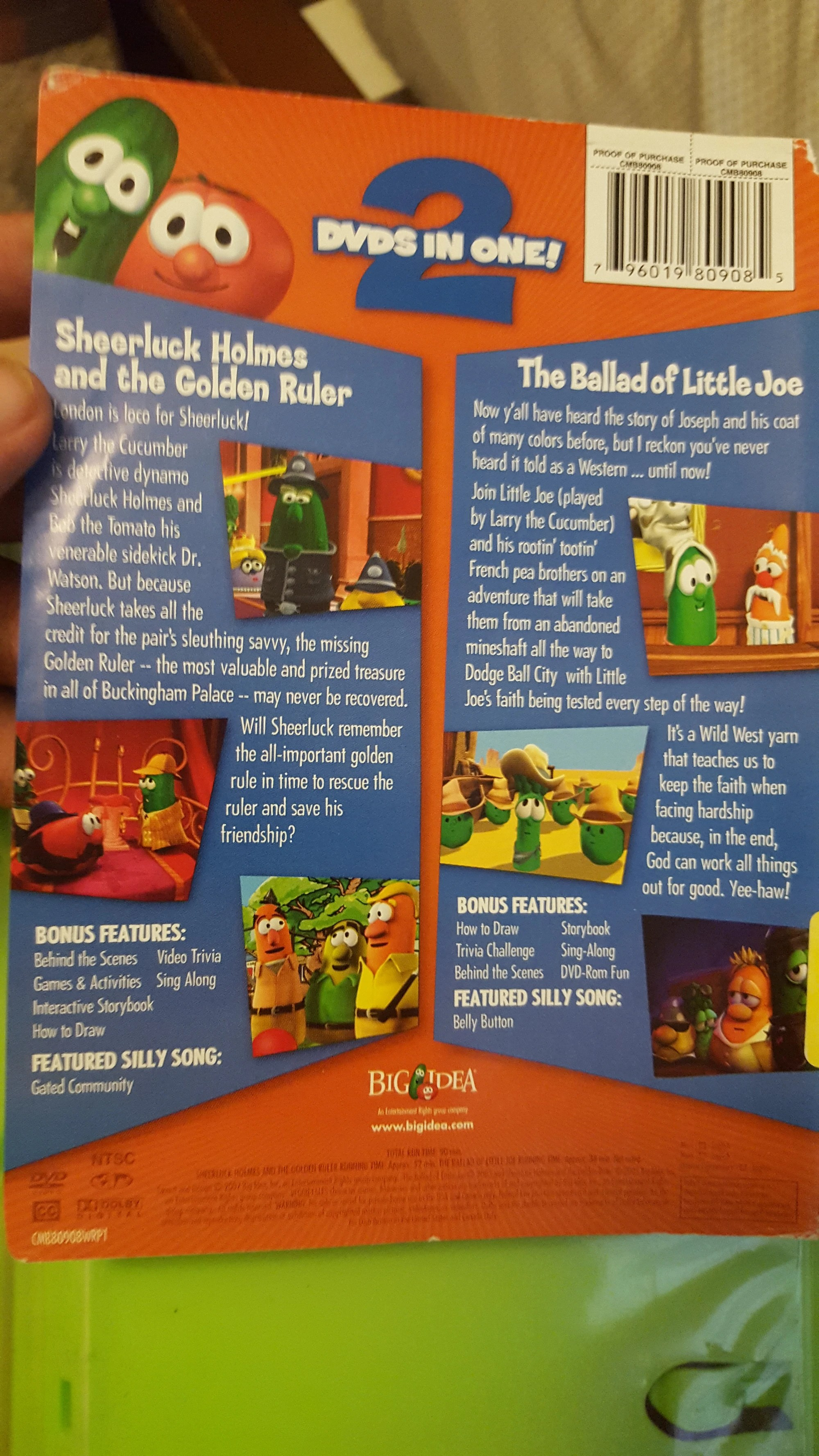 Veggietales Double Feature Dvd - Year of Clean Water