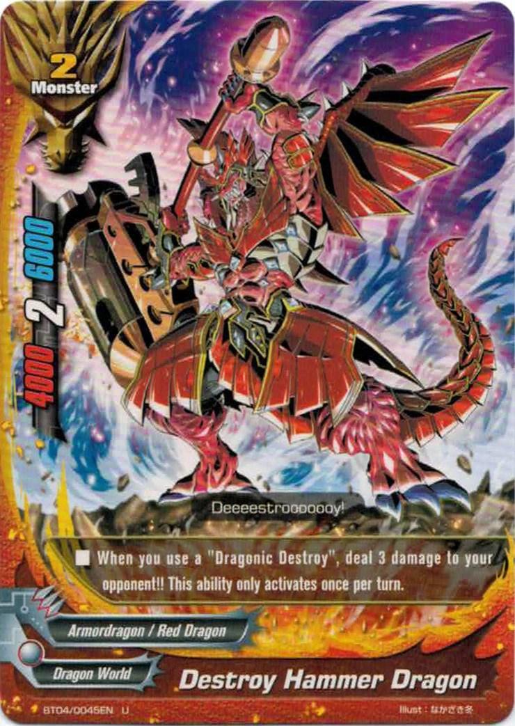 Destroy Hammer Dragon  Future Card Buddyfight Wiki