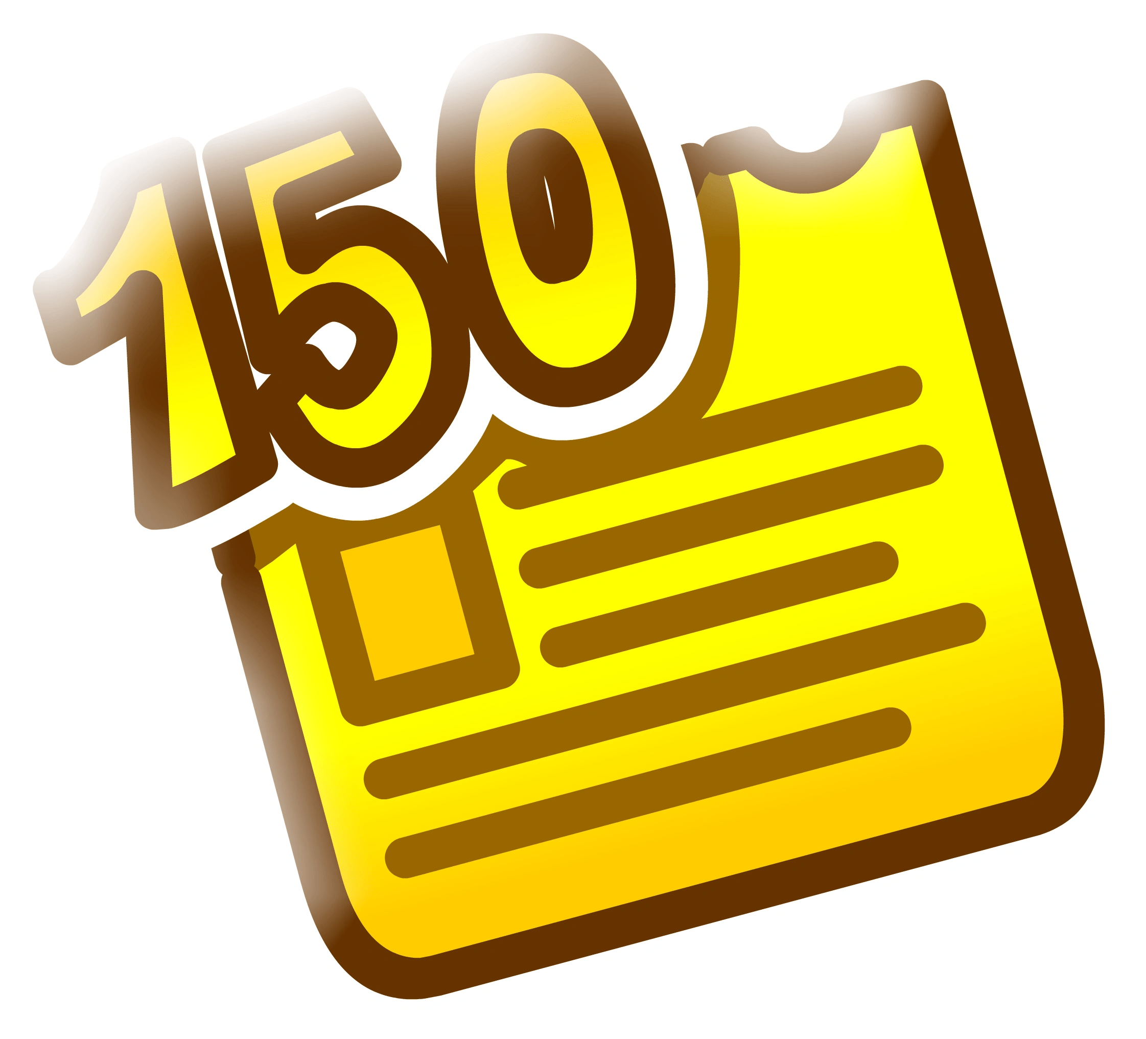 hight resolution of 150th newspaper pin