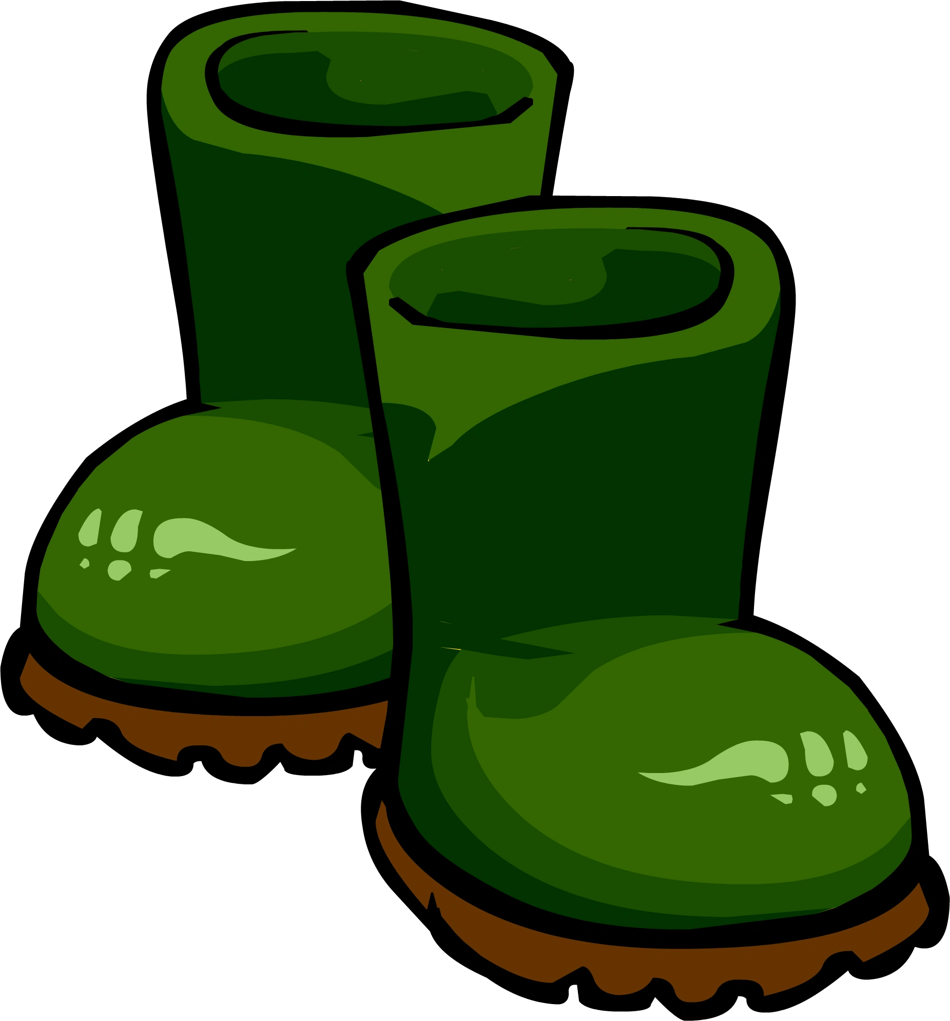 Green Rubber Boots  Club Penguin Wiki  FANDOM powered by