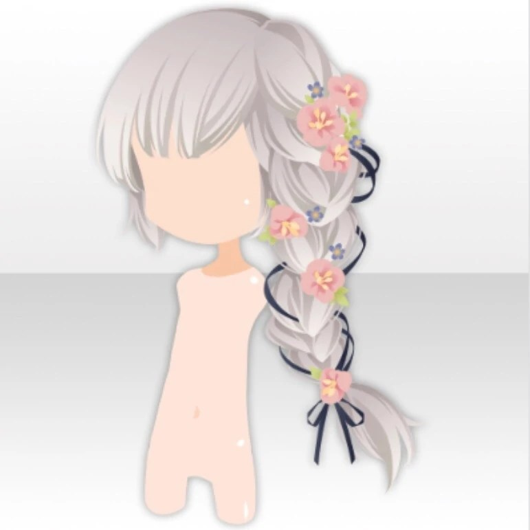 hairstyle flower side