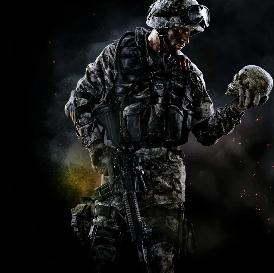 Image Warface Game Soldier Holding Skull Hd Wallpaper