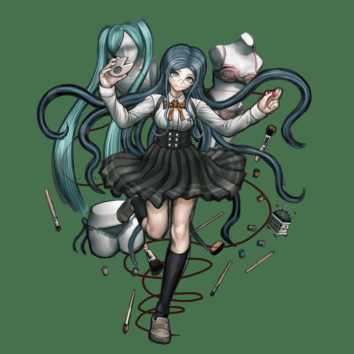 Danganronpa Ultra Despair Girls Cast Wallpaper Tsumugi Shirogane Danganronpa Wiki Fandom Powered By Wikia